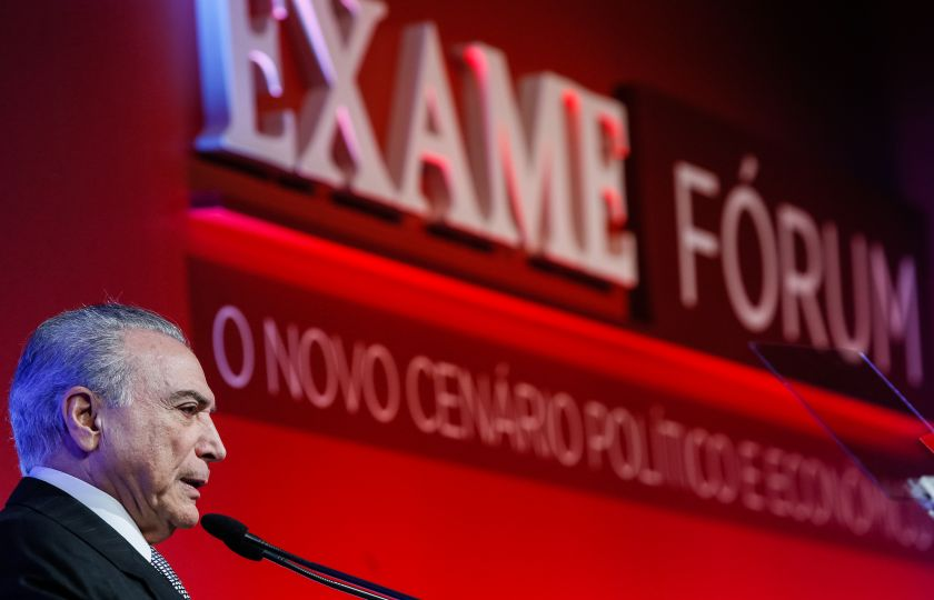 A culpa não foi minha, diz Temer sobre crise e desemprego no Brasil