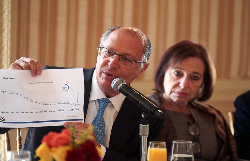 Alckmin participa de reunião com investidores nos Estados Unidos