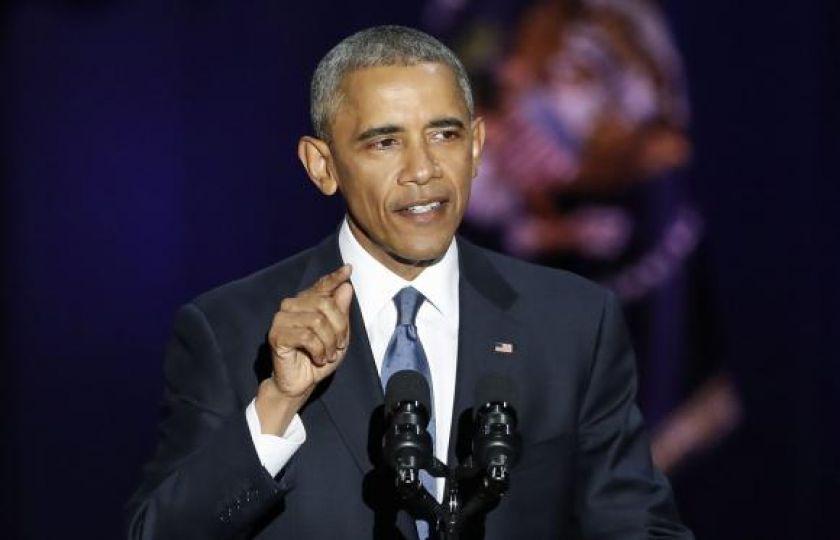 Em discurso emocionado de despedida, Obama pede união pela democracia