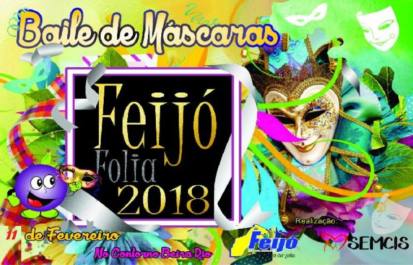 Feijó Folia 2018: Prefeitura realizará baile de máscaras