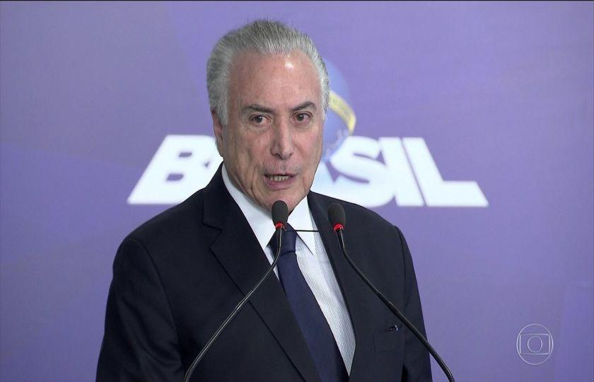 Temer diz que Brasil é um país onde 'cada um quer derrubar o outro'