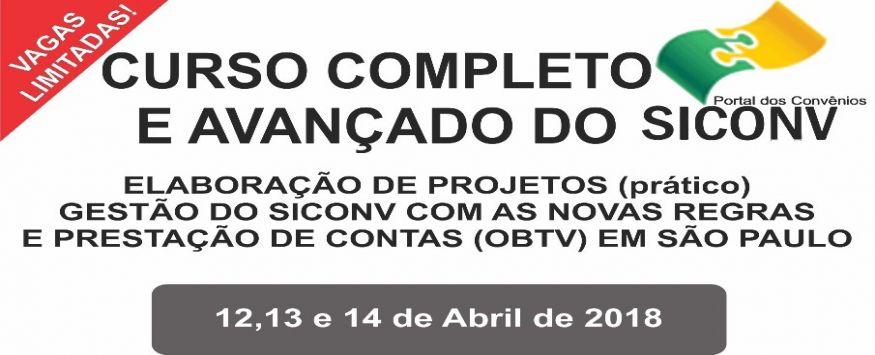 CURSO COMPLETO E AVANÇADO DO  SICONV  EM SÃO PAULO - SP