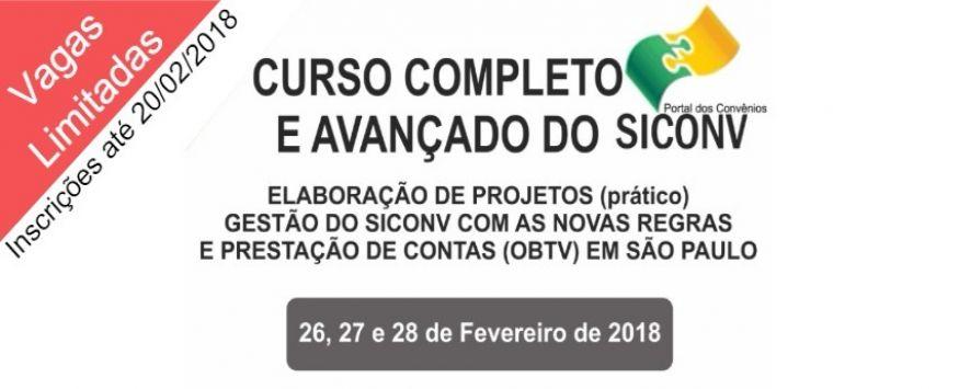 CURSO SICONV  EM SÃO PAULO - SP